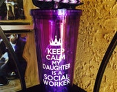 Custom Keep Calm my daughters a social worker, masters, social work