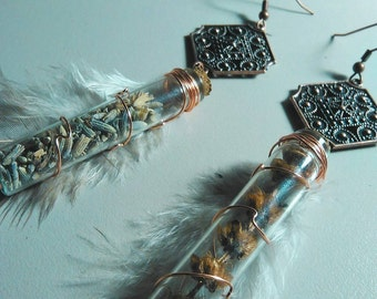 Lavender & Holy Basil Earrings