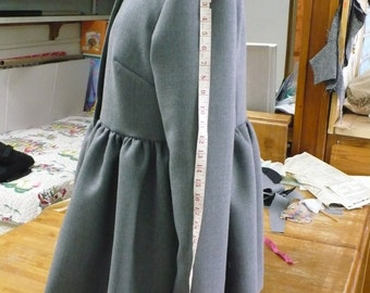 Peplum swing type ladies jacket