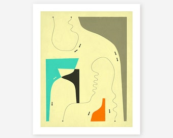 FIRST IMPRESSIONS (Giclée Fine Art Print) Abstract Wall Art for the Home Decor