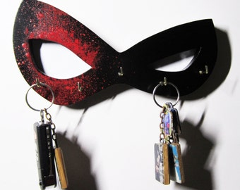 Harley Quinn Mask Key/Jewelry Hanger (in stock)
