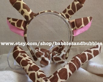 Comfortable Giraffe Ears Headband Halloween Costume - Giraffe Costume - NEXT DAY SHIPPING!