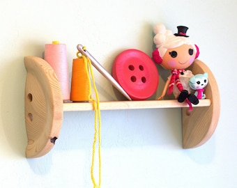 "Large Wood Button 6"" - Lalaloopsy Style - 6 Inch Huge Wood Button"