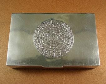 Sterling Silver Cigarette Box Desk Trinket Valet Stash Presentation // M.R.R. // Cedar Lined / 485 grams // Spectacular
