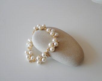 Wedding Pearl Bracelet.