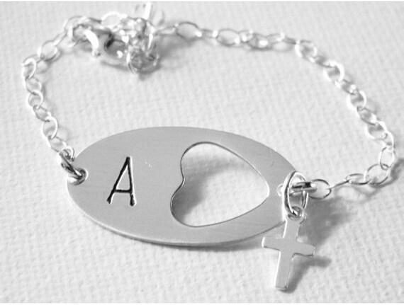 Baby bracelet, Personalized initial bracelet, sterling silver, custom made, infant ID bracelet, baby keepsake, Baby hospital ID bracelet
