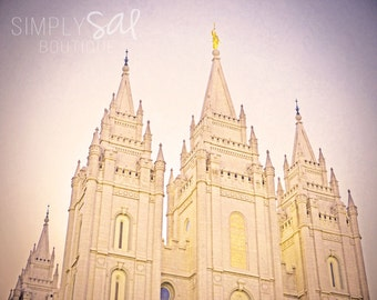Salt Lake City Temple Picture - Digital Download Photograph - Printable