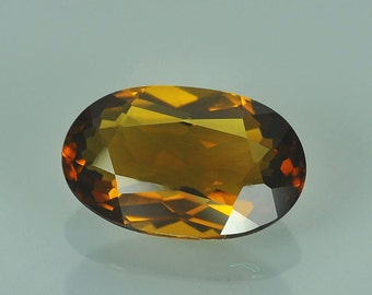 5.63 Carat Natural Citrine Brown Oval Gemstone Brazil