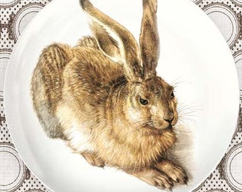 rabbit melamine plate or platter