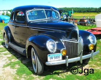 Antique Car, Photograph, Instant Download