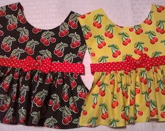 XSmall Cherry Print Dog Dress