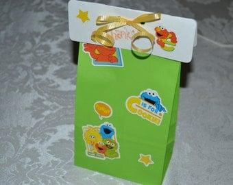 10 Sesame Street Inspired Party Favor Bags/Sesame Street Bags/Sesame Street/Sesame Party Bags/Sesame