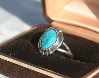 Vintage Navajo Ring Signed Rts