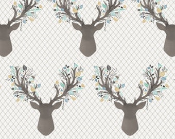 Going Stag-Floral Fawn Curtains