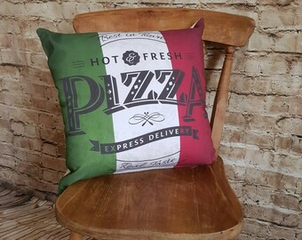 """Handmade """"Pizza"""" Cushion Square With Or Without Inner"""