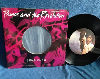 "RARE Vintage, Prince - ""I Would Die 4 U / Another Lonely Christmas"", Vinyl LP, Record Album, Canada Import, Original 1984 Press, Purple Rain"