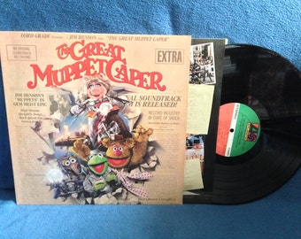 "RARE, Vintage, ""The Great Muppet Caper"", Original Soundtrack, Vinyl LP, Record Album, Hey A Movie, Lady Holiday, Kermit The Frog, Frank Oz"