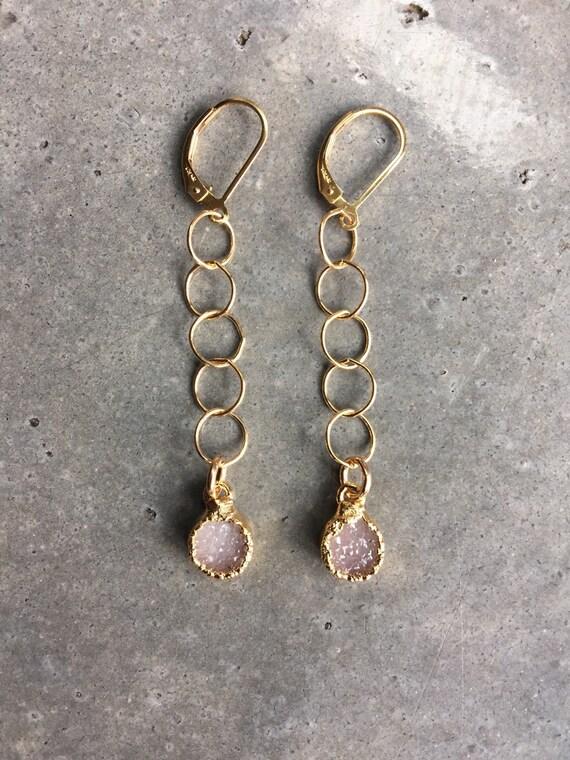 Druzy Earrings, druzy jewelry, aunt gift, wedding jewelry