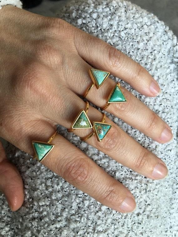 Turquoise rings, boho jewelry
