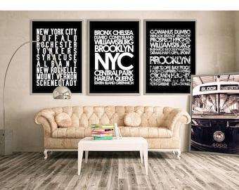 Brooklyn subway sign art paper print OR canvas
