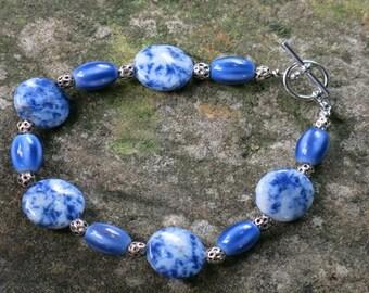 Lapis Luzuli And Glass Bead Bracelet