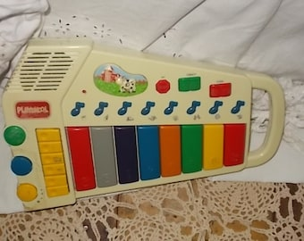 1995 Playskool Farm Friends Kids Electronic Music Toy xylophone  piano keyboard with animal sounds/S Not Included in Coupon Sale