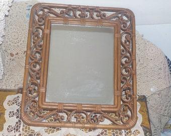 Vintage Mirror,Ornate Mirror, Pretty Detailed Mirror, Country Decor,Vintage Home Decor,:)