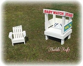 Lifeguard Tower Daddy's Little Helper Photography Prop Multifunctional