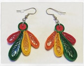 Blackhawks earrings (paper quilled) **Free Shipping** (USA)
