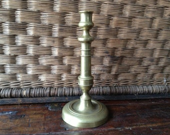 French Brass Candlestick Holder 11 inch Height, Elegant and Substantial
