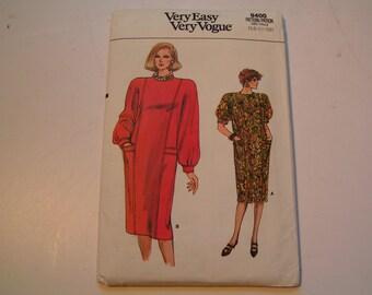 Vintage Vogue Very Easy 9400 Miss Dress Miss 14 16 18
