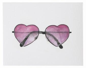 Heart Sunnies Art Print