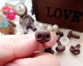 8mm Plastic Nose Stuffed Animals Noses Amigurumi Safety Noses Dog Nose - brown - 30 pcs
