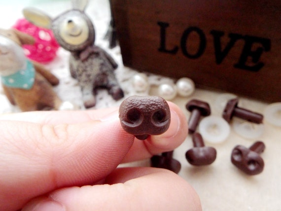 Amigurumi Dog Noses : 8mm Plastic Nose Stuffed Animals Noses Amigurumi Safety ...