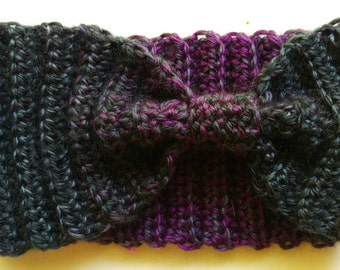 50 Shades of Purple Crochet Ear Warmer Headband