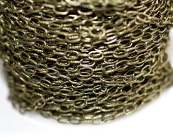 15ft Antique brass Chain 7.4.5mm- Bras finished