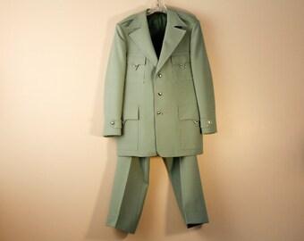 Vintage leisure suit by Phoenix - sage green
