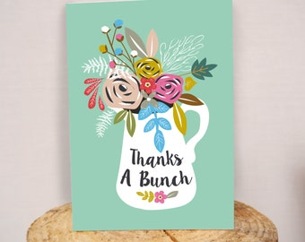 Thanks a Bunch A5 greeting card
