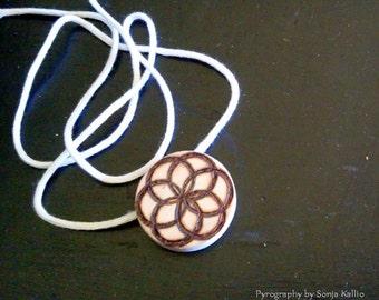 Seed of Life Cedar Pendant Necklace/Jewellery
