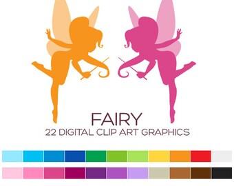 Fairy Clipart Fairy Clip Art Girl Clipart Nursery Clipart Silhouette Clipart Baby Clipart Princess Clipart Birthday Cute Clipart - A00169