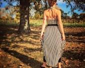 Circus Dress, stripe dress, steampunk dress, masquerade dress, Harmonic Threads
