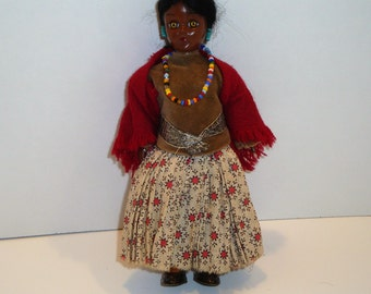 Vintage Native American Doll - Indian Squaw Doll - American Indian Doll - Old West Doll - Vintage Sioux Indian Doll