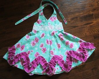 Madelyn Halter Dress size 2t (ready to ship)