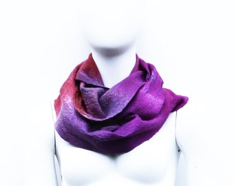 Felted Circle Infinity Scarf