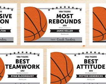 Editable basketball award certificates instant download editable basketball award certificates instant download printable grey gray and black yelopaper Image collections