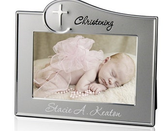 Engraved Christening Photo Frame