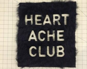 Vegan Faux Fur Heartache Club Patch