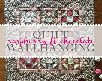 Raspberry & Chocolate Quilt
