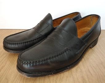 Allen Edmonds Paxton Penny Loafers / preppy black Weejuns-style shoes / US men's 10.5