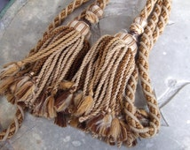 Antique French Tie Back Tassel. Hand Made.  Chateau Decor. French Country